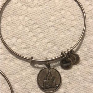 Alex and Ani Disney castle silver, pre owned